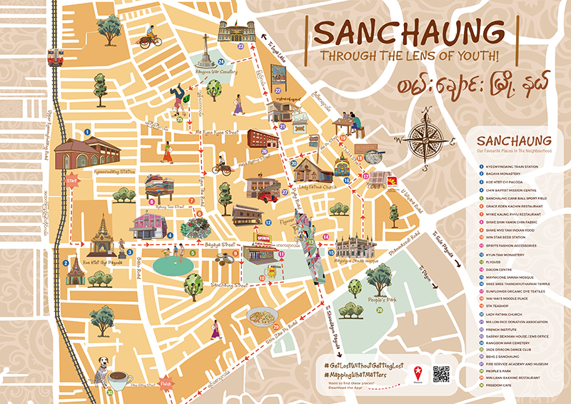Sanchaung Map - Frontside