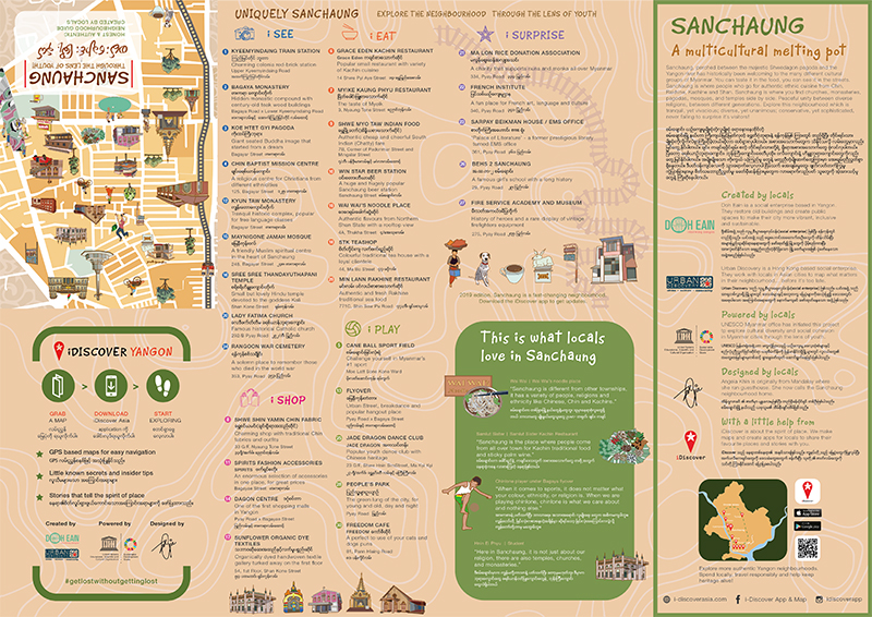 Sanchaung Map - Backside