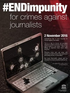 #ENDimpunity for crimes agains journalists , 2 November 2016 Poster