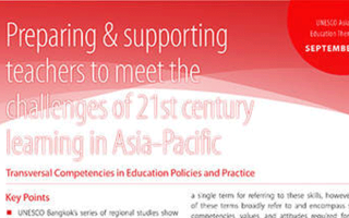 Preparing & supporting teachers to meet the challenges of 21st century learning in Asia-Pacific - Transversal Competencies in Education Policies and Practice