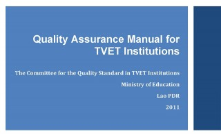 Lao PDR produces TVET Quality Assurance Manual