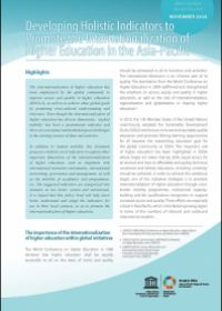 Developing Holistic Indicators to Promote the Internationalization of Higher Education in the Asia-Pacific (UNESCO Asia-Pacific Education Policy Brief, November 2018)
