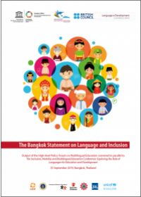 The Bangkok Statement on Language and Inclusion