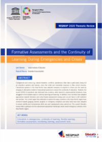 picture Online Open Access programme and meeting document Formative assessments and the continuity of learning during emergencies and crises: NEQMAP 2020 thematic review