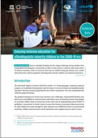 Guidance Note: Ensuring Inclusive Education for Ethnolinguistic Minority Children in the COVID-19 Era