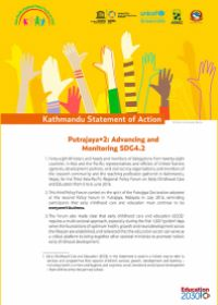 Kathmandu Statement of Action - Putrajaya+2: Advancing and Monitoring SDG4.2