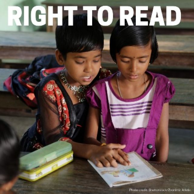 Right to read: Joint efforts to provide books to minority-language learners