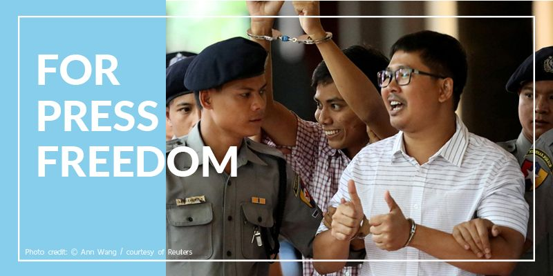 Reuters reporters Wa Lone and Kyaw Soe Oo to receive 2019 UNESCO/Guillermo Cano Press Freedom Prize
