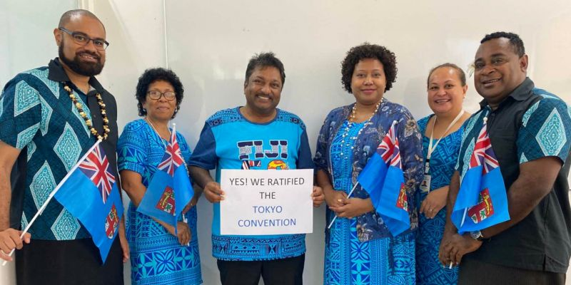 Main photo caption:  The Fiji Higher Education Commission (FHEC) celebrated the ratification of the Tokyo Convention during Fiji's 50th Anniversary of Independence. (©The Fiji Higher Education Commission)