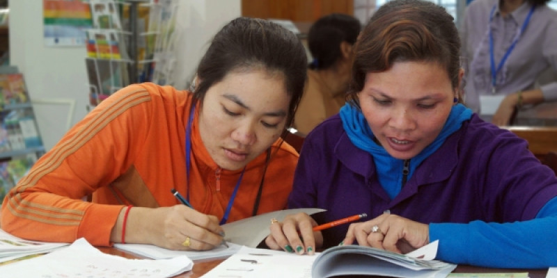 Cambodia's factory literacy programme: Learning while earning